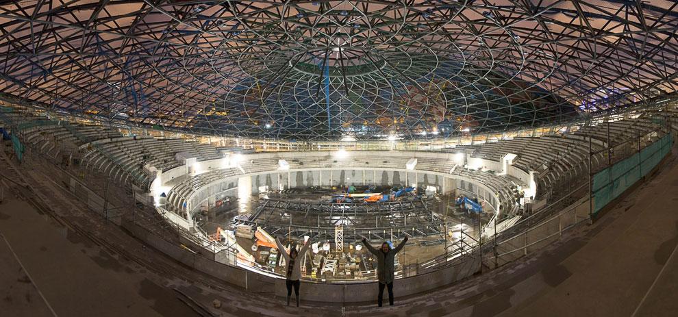 Недостроенная многофункциональная арена The Hydro в городе Глазго
