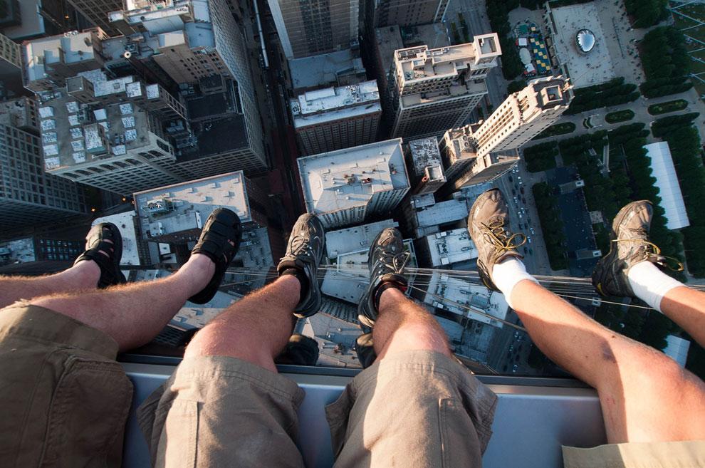 Наверху здания Legacy Tower в Чикаго
