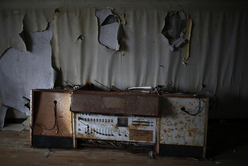 Устройство системы оповещения в бывшей начальной школе в городе Намие