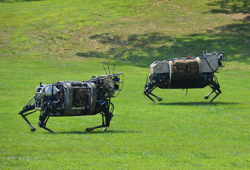 Четвероногие роботы от американского агентства перспективных исследовательских оборонных проектов (DARPA)
