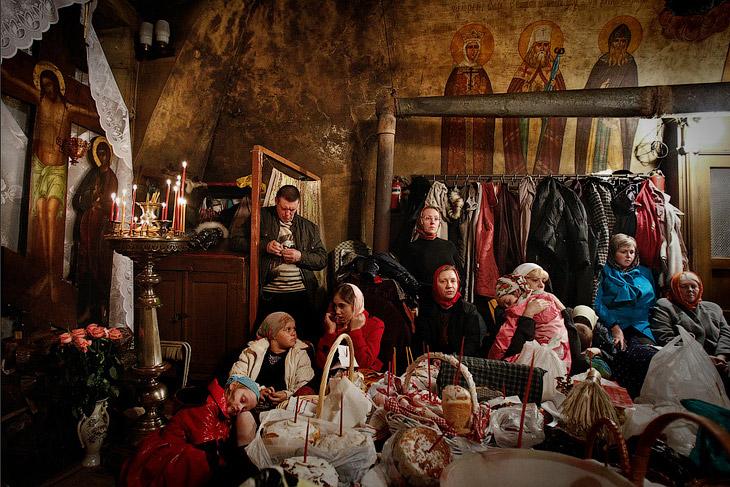 Православное Рождество в маленькой церкви