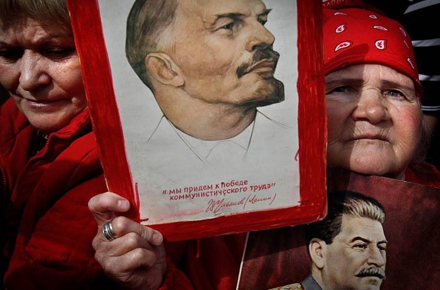 Митинг сторонников компартии на 1 Мая в Москве