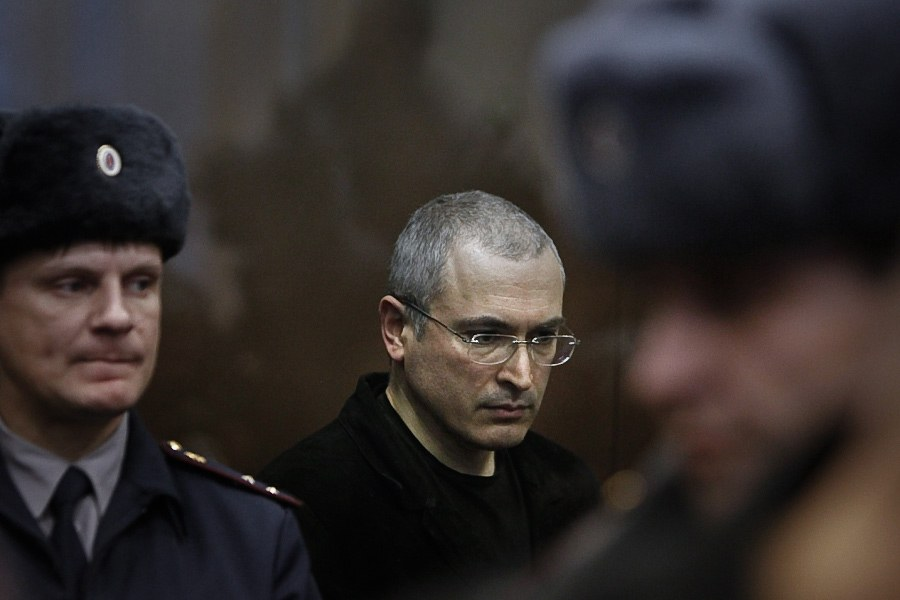 Михаил Ходорковский на судебном слушании