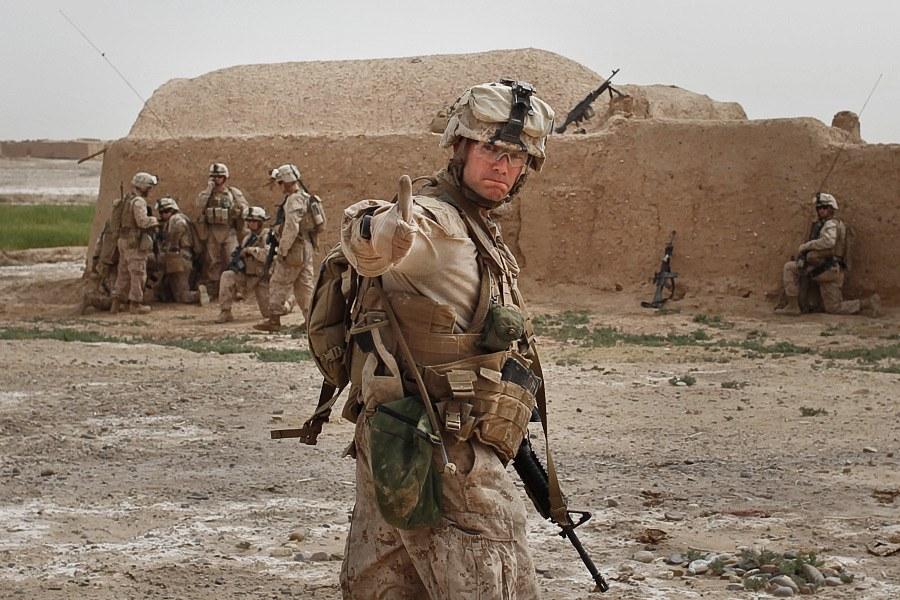 Солдат из подразделения Dustoff, которое занимается, в том числе, эвакуацией раненых в южной части Афганистана