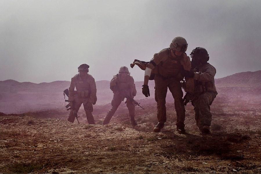 Эвакуация раненого, Афганистан