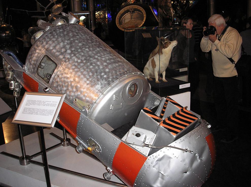 Катапультируемый контейнер Белки и Стрелки в Музее Космонавтики