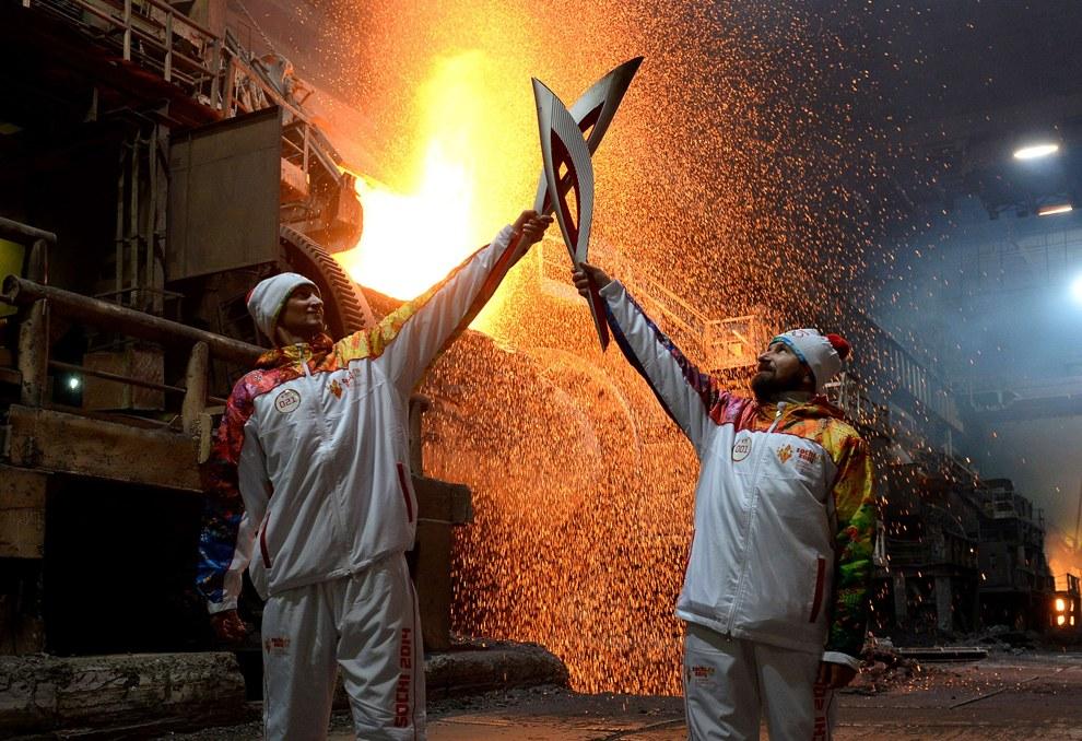 Эстафета Олимпийского огня прибыла в суровый Норильск
