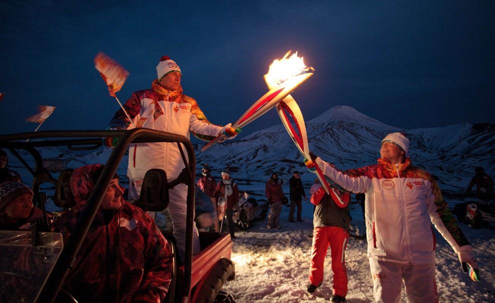 Эстафета Олимпийского огня 2014 на Камчатском полуострове