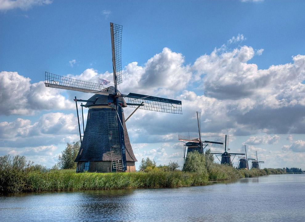 Знаменитые ветряные мельницы Киндердейка