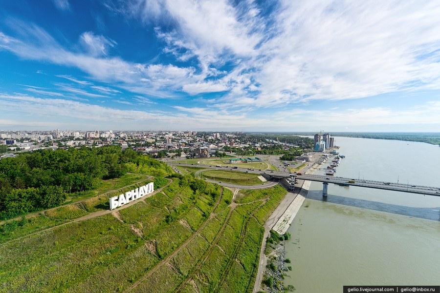 Виды Барнаула с вертолета