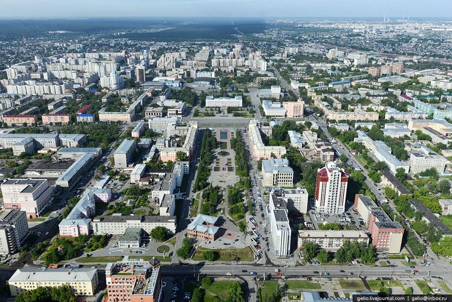 Площадь Ветеранов и Обской бульвар