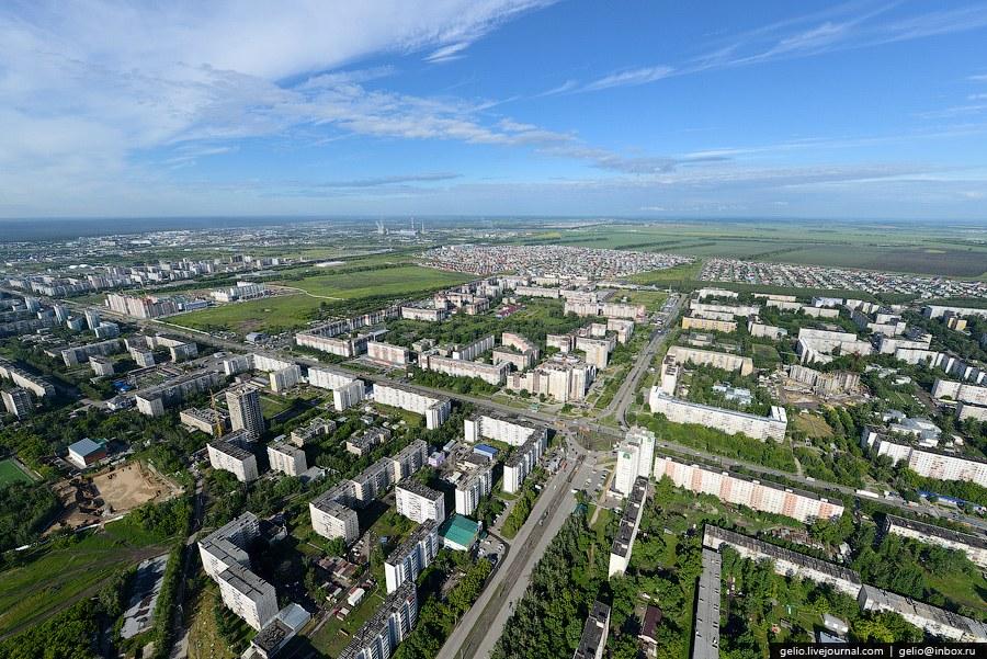 Жилые кварталы в Ленинском и Индустриальном районах