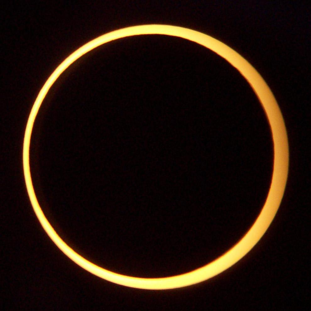 Редкое гибридное солнечное затмение