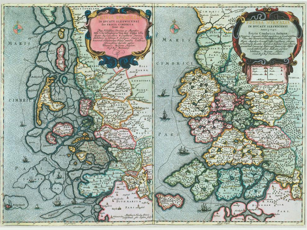 Карты Северной Фрисландии