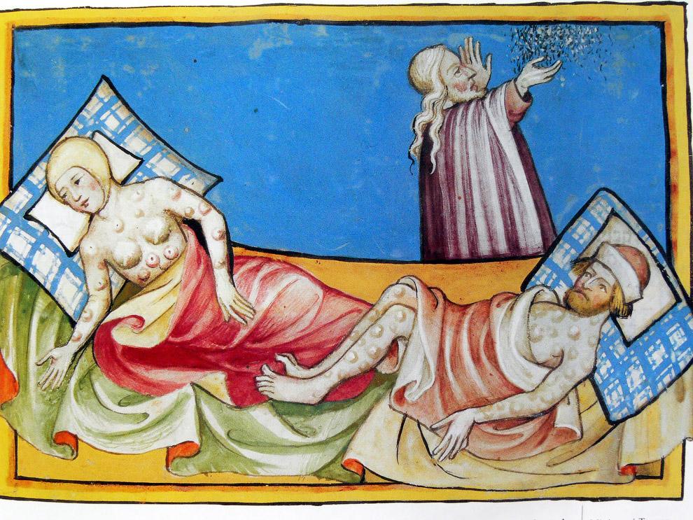 Иллюстрация Черной смерти
