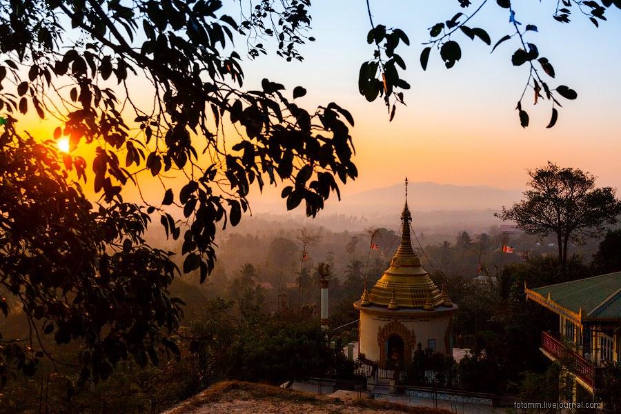 Прогулка по монастырям а Бирме