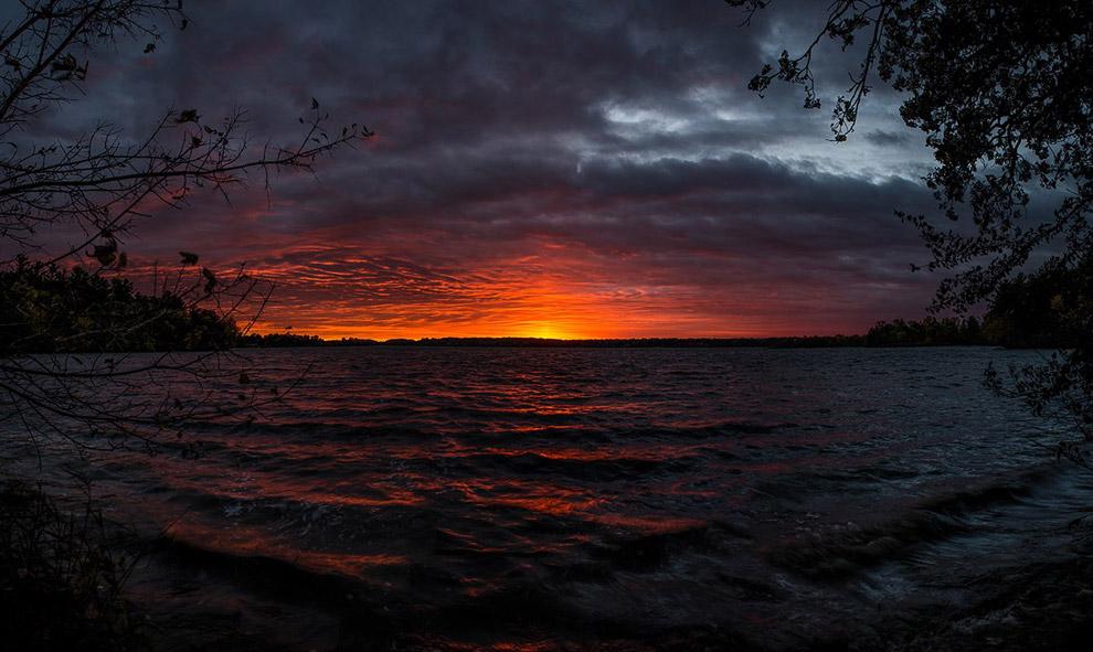 Невероятный закат в штате Висконсин