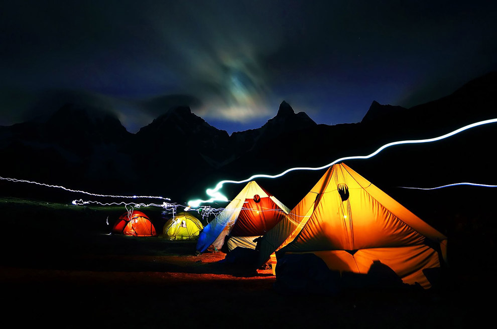 Лагерь альпинистов в Перу