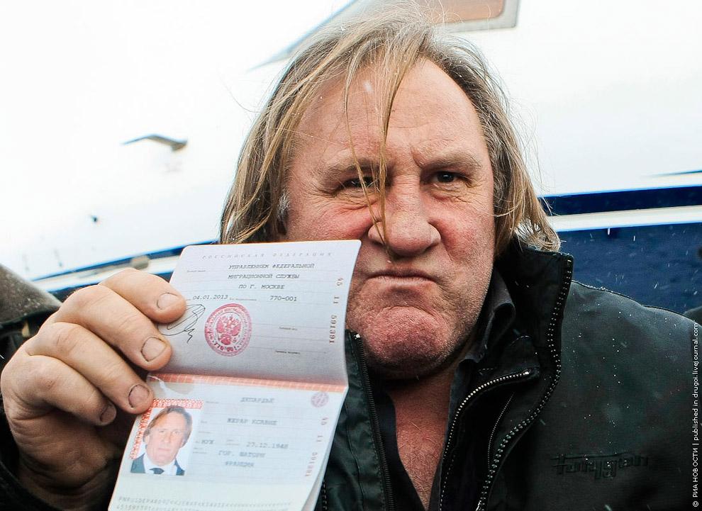 5 января 2013 бывший французский актер Жерар Депардье получил российский паспорт ради ухода от высоких налогов в своей стране