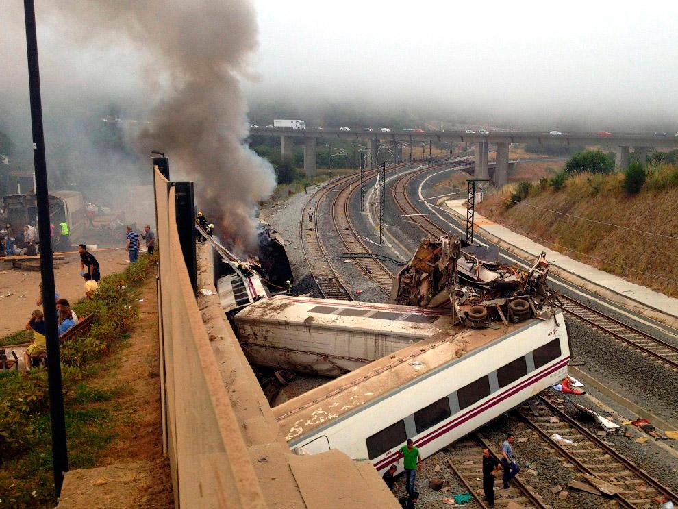 Железнодорожная катастрофа в Сантьяго-де-Компостела