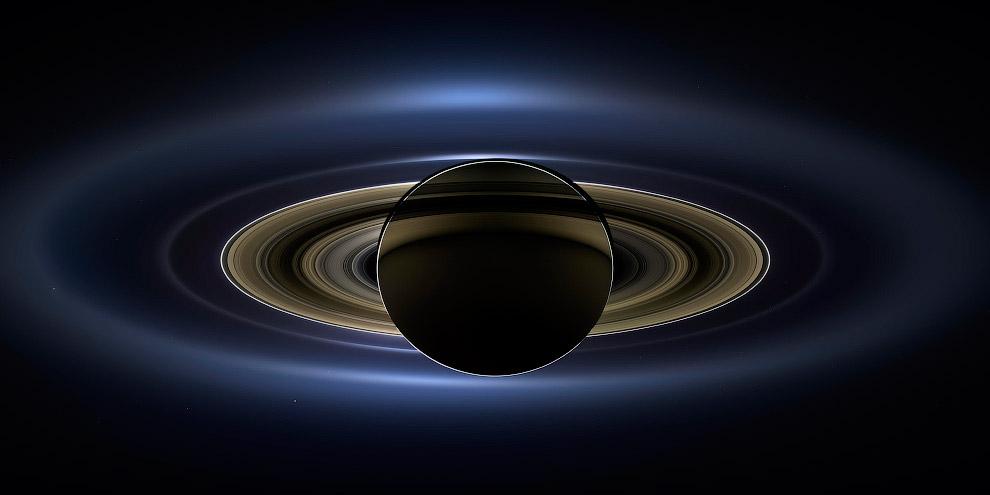 Сатурн затмевает Солнце