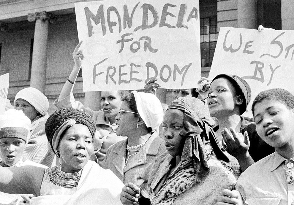 Митинг африканских женщин в Южной Африке, 16 августа 1962 года. Они требуют освободить Нельсона Манделу из тюрьмы