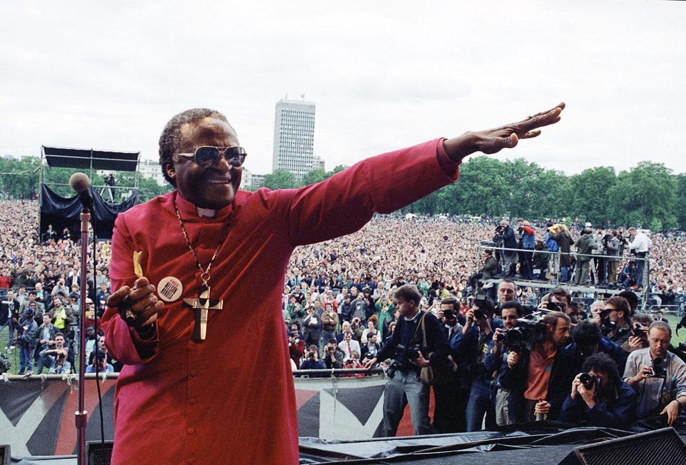 Митинг в лондонском Гайд-парке за освобождение Нельсона Манделы