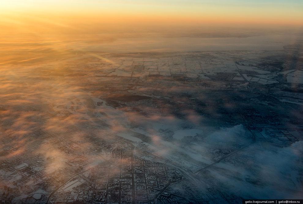 Новосибирск на рассвете