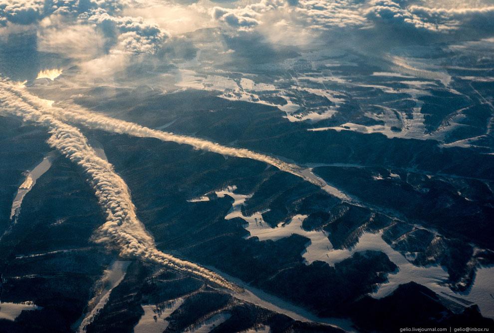 Морозное испарение на Красноярском водохранилище