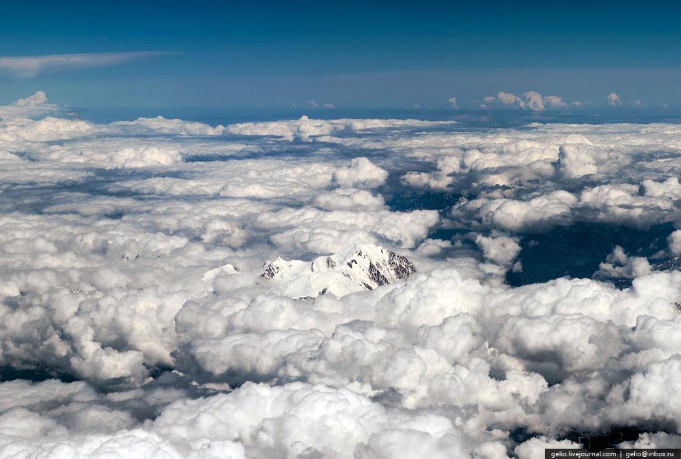 Монблан - высшая точка Западной Европы (4810 метров)