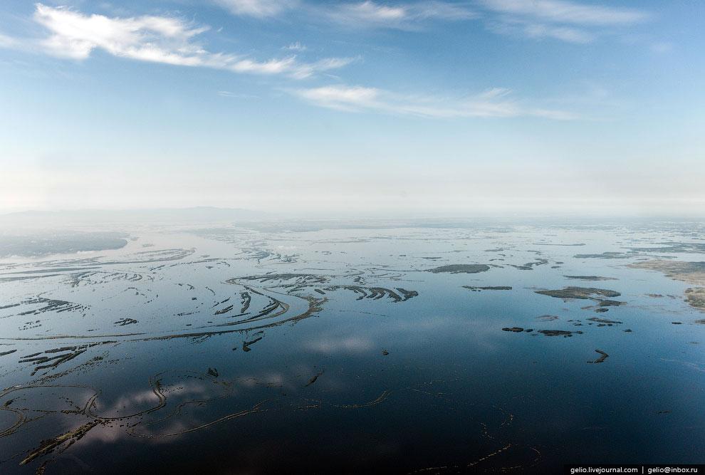 Затопленные земли возле Хабаровска