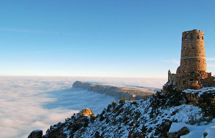 Море облаков в Большом каньоне