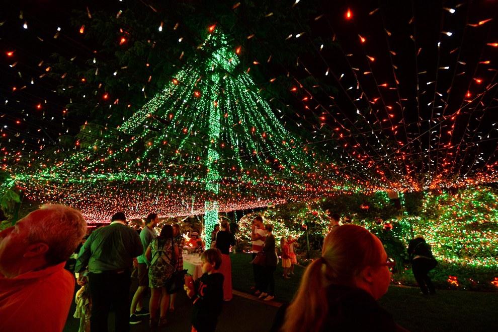 В Австралии зажгли полмиллиона рождественских огней