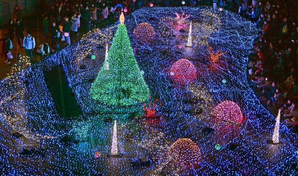 Рождественская иллюминация в Токио