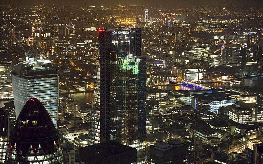 Небоскрёб «Леденхолл Билдинг» и Лондонский Сити — историческое ядро Лондона