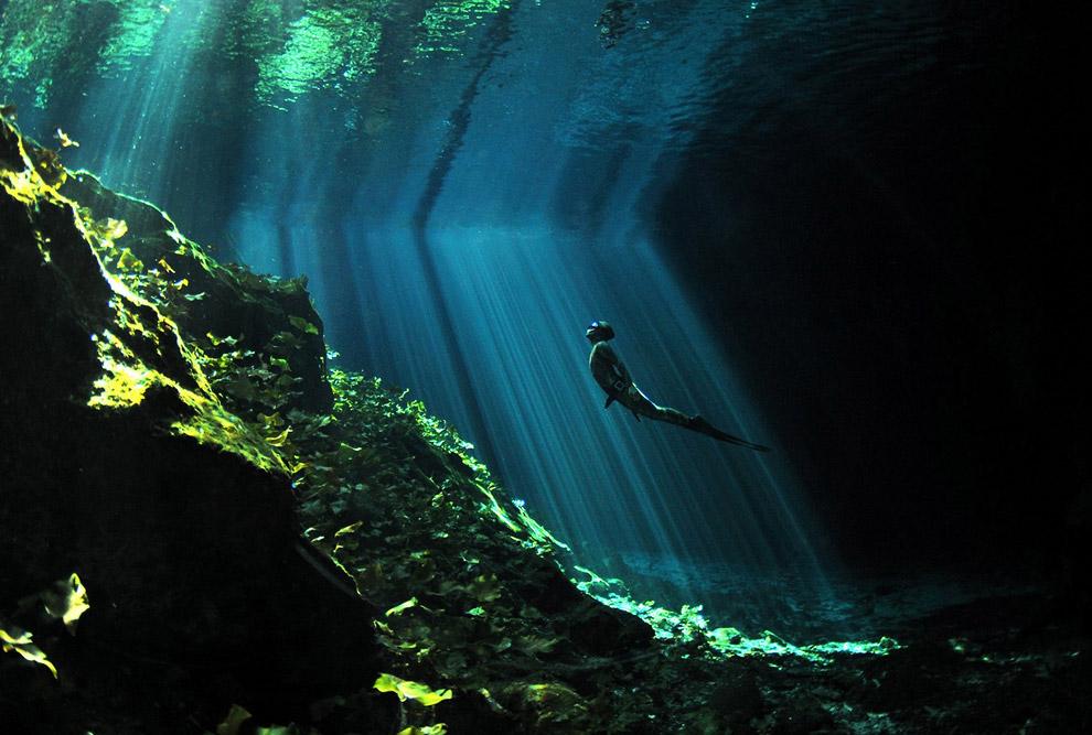 Подводная пещера в Мексика