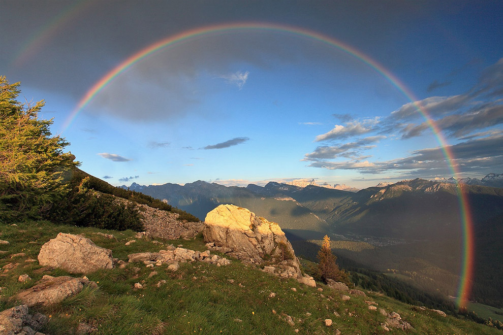 Радуга в Доломитовых Альпах