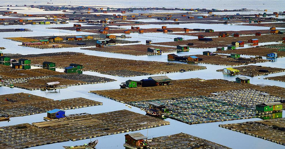 Рыбацкая деревня в Китае