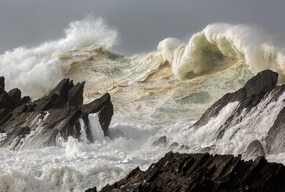 Идеальный шторм на западном побережье Ирландии