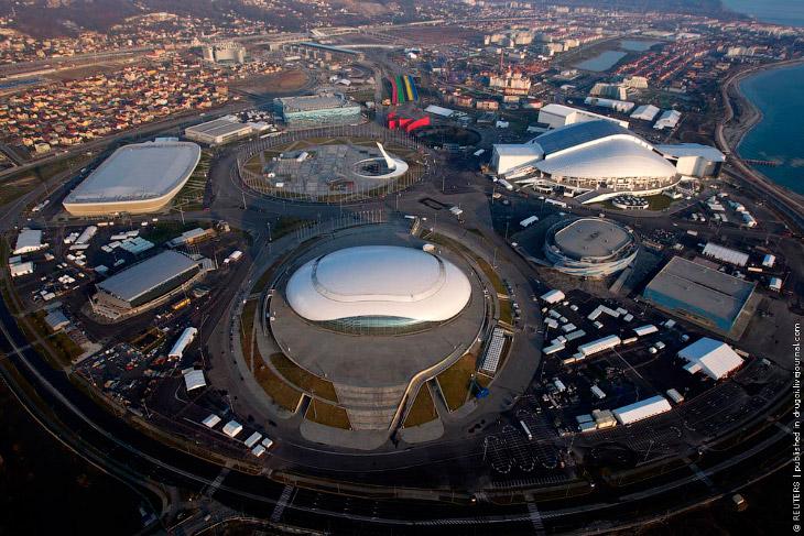 Олимпийский парк с вертолета