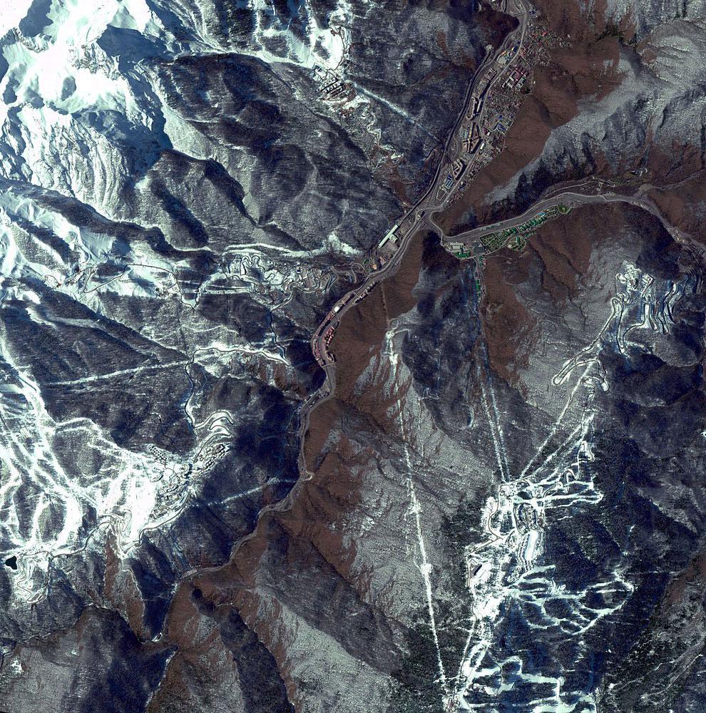 Место, где пойдет зимняя Олимпиада 2014 года в Сочи