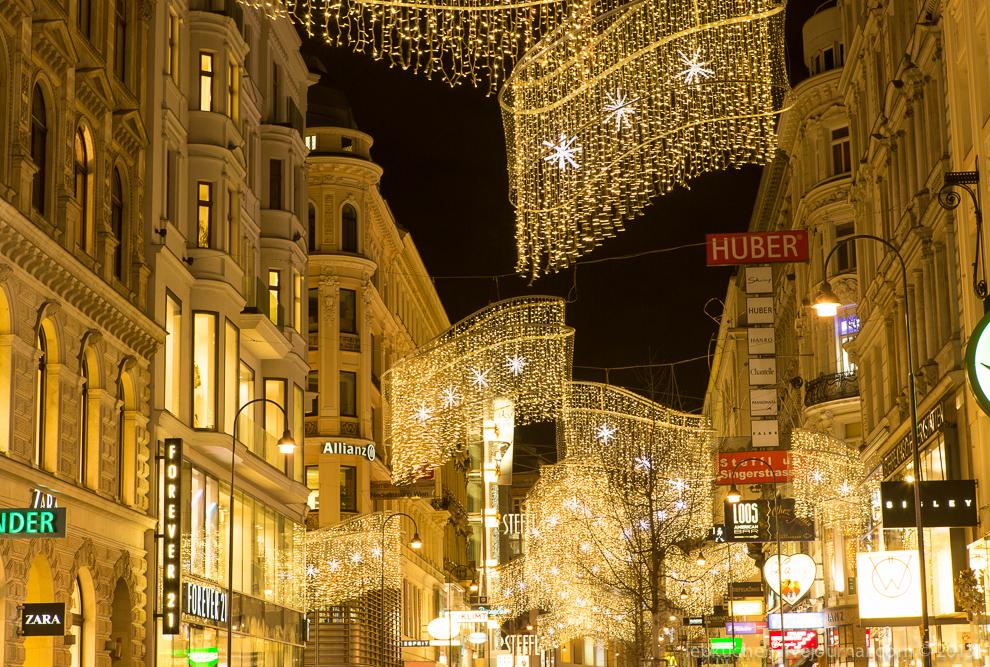 Рождественские огни Вены