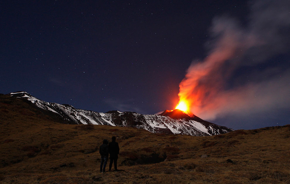 Извержение вулкана Энта