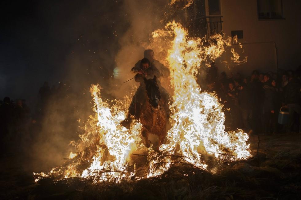 Лошади и огонь: День святого Антонио