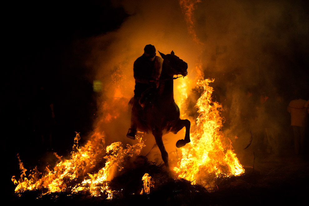 Spain San Anthony Bonfire Festival