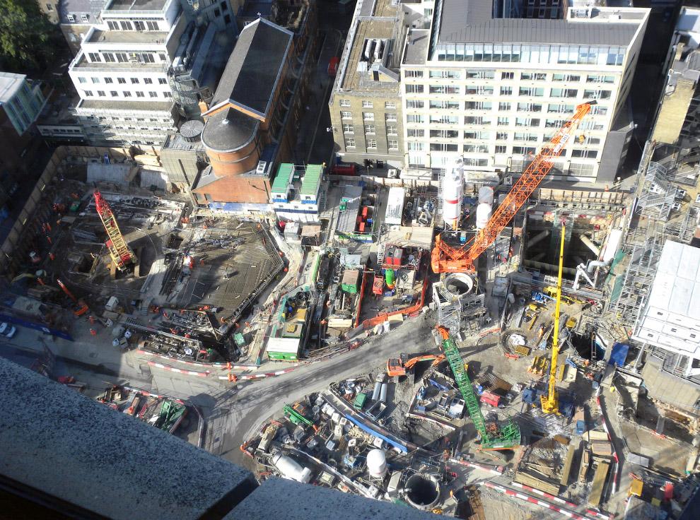 Строительство станции Tottenham Court Road