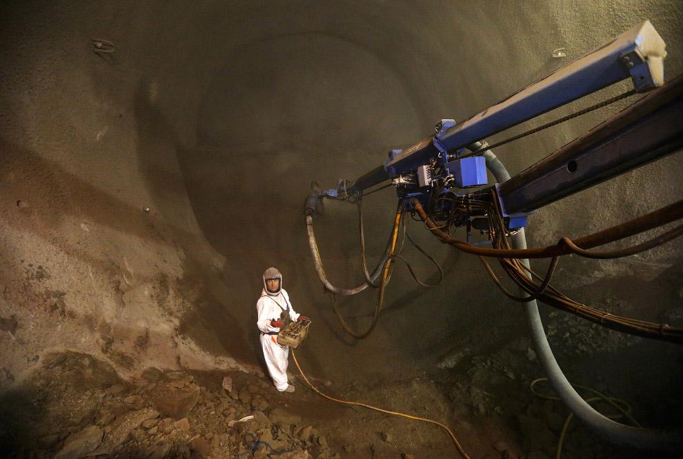 Строительство тоннеля под восточной частью Лондона