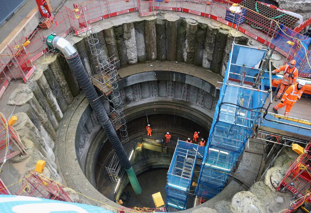 Строительство станции Farringdon, в Лондоне
