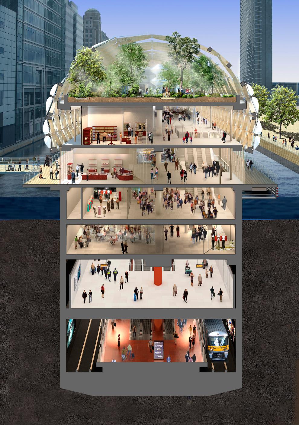 Проект станции Canary Wharf