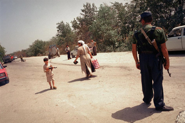 Хасавюрт, блокпост на чеченской границе